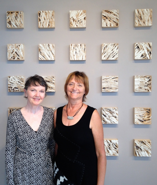 Karin and Patricia at Patricia Cameron Gallery, 2014